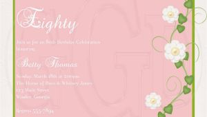 80th Birthday Invitation Wording Samples 15 Sample 80th Birthday Invitations Templates Ideas