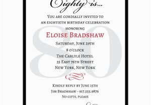 80th Birthday Invitation Wording Samples Quotes for 80th Birthday Invitations Quotesgram