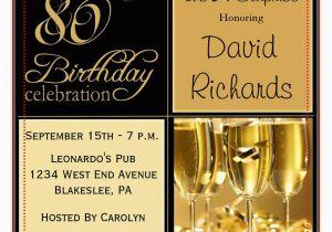 80th Birthday Invitations For A Man 15 Sample Templates Ideas