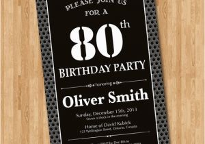 80th Birthday Invitations For A Man 15 Sample 80th Birthday