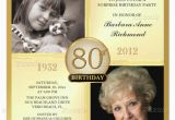 80th Birthday Invitations with Pictures 15 Sample 80th Birthday Invitations Templates Ideas