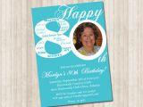 80th Birthday Invitations with Pictures 80th Birthday Invitation Pure Design Graphics