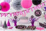 80th Birthday Party Decorations Supplies Pink Sparkling Celebration 80th Birthday Party Supplies