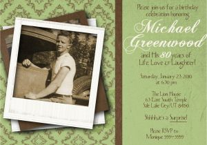 80th Birthday Party Invitations With Photos Celebration Invitation