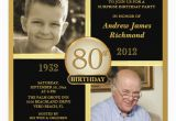 80th Birthday Party Invitations with Photos 80th Birthday Invitations then now 2 Photos Zazzle