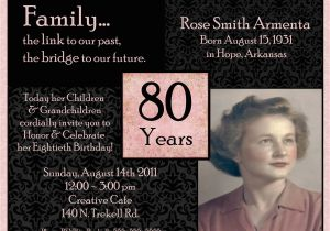 80th Birthday Party Invitations with Photos Quotes for 80th Birthday Invitations Quotesgram