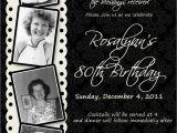 80th Birthday Party Photo Invitations 15 Sample 80th Birthday Invitations Templates Ideas
