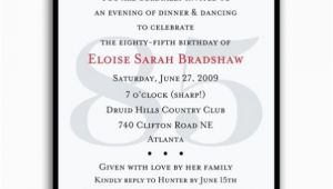 85 Birthday Invitations Classic 85th Birthday Red Surprise Invitations Paperstyle