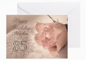 85th Birthday Card Verses For Mother Pink Rose Greeting By