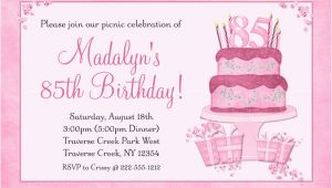 85th Birthday Invitation Template Birthday Invitation Templates 85th Birthday Invitations