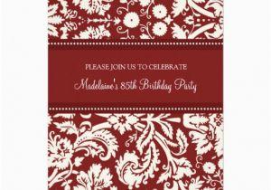 85th Birthday Invitation Template Templates