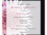 85th Birthday Invitation Wording 85th Birthday Party Invitation Gerbera Daisy Zazzle