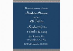 85th Birthday Invitation Wording Blue Damask 85th Birthday Party Invitations 5 Quot X 7