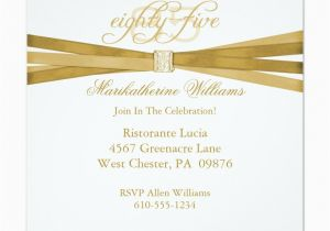 85th Birthday Invitation Wording Elegant 85th Birthday Party Invitations Party Ideas