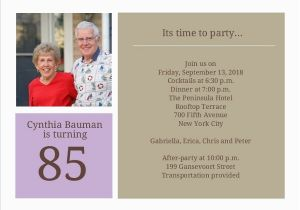 85th Birthday Invitation Wording Simple Squares 85th Birthday Invitation 80th Birthday