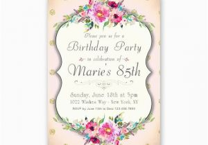 85th Birthday Invitation Wording Women 39 S 85th Birthday Invitations Milestone Birthdays Of