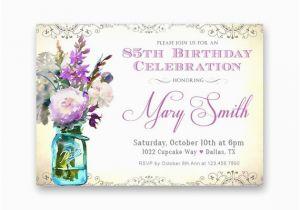 85th Birthday Invitation Wording Women 39 S Invitations Purple Lavender
