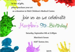 9 Year Old Birthday Invitation Wording Dolanpedia