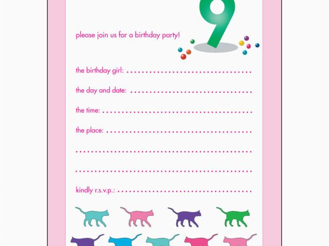 Download By SizeHandphone Tablet Desktop Original Size Back To 9 Year Old Birthday Invitations