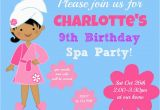 9 Year Old Birthday Invitations 9 Year Old Girl Birthday Party Invitations