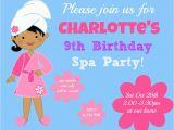 9 Year Old Birthday Invitations 9 Year Old Girl Birthday Party Invitations