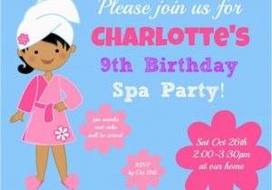 9 Year Old Birthday Invitations Girl Party