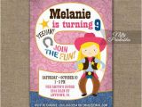 9 Year Old Birthday Invitations Cowgirl Birthday Invitation 9th Birthday Invitations Girls
