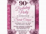 90 Birthday Invitation Templates 90th Birthday Party Invitations Party Invitations Templates