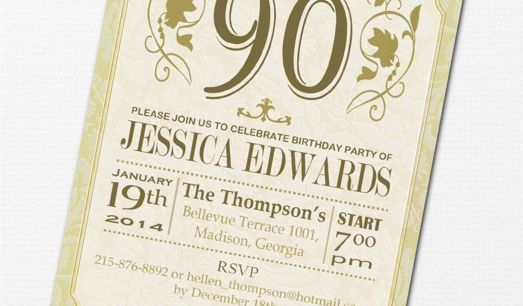 Download By SizeHandphone Tablet Desktop Original Size Back To 90 Birthday Invitation Wording