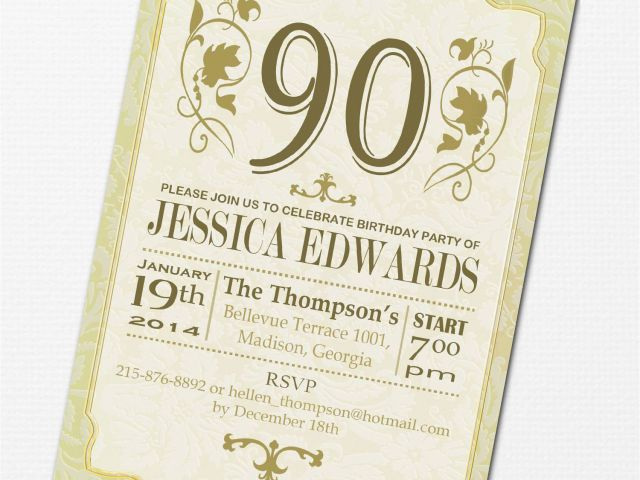 90th Birthday Invitation Wording Party Invitations Free Templates Download By SizeHandphone Tablet Desktop Original Size Back To 90