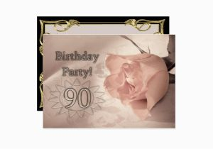 90 Year Old Birthday Invitations Party Invitation Years Zazzle