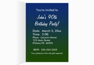90 Year Old Birthday Invitations Golf Invitation For Zazzle