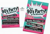 90s Birthday Invitation Templates 90 39 S Party Direct Mail Pinterest 90s Party