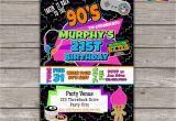 90s Birthday Invitation Templates Takin It Back to the 90s Retro Birthday Invite Personalized