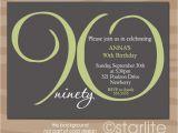 90th Birthday Celebration Invitation 15 90th Birthday Invitations Tips Sample Templates