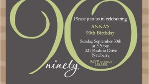 90th Birthday Celebration Invitation 15 90th Birthday Invitations Tips Sample Templates
