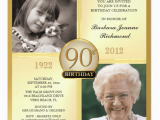 90th Birthday Celebration Invitation 90th Birthday Invitations and Invitation Wording