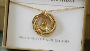 90th Birthday Gifts for Her 90th Birthday Gift for Her Citrine Necklace Gold Grandmother