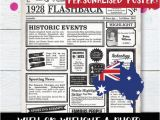 90th Birthday Gifts for Him Australia 90th Birthday Poster Australia Australian Birthday Poster