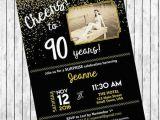 90th Birthday Invitation Template Free 11 90th Birthday Invitations Designs Templates Psd