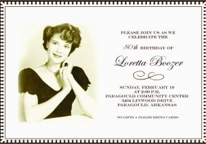 90th Birthday Invitation Template Free Templates