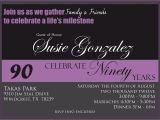 90th Birthday Invitation Template Free Free 90th Birthday Invitation Templates Best Party Ideas