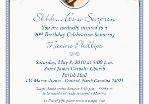 90th Birthday Invitation Wording 80th Surprise Birthday Invitation Wording 90th Birthday