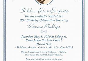 90th Birthday Invitation Wording 80th Surprise Birthday Invitation Wording 90th Birthday