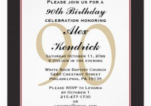 90th Birthday Invitation Wording 90th Birthday Invitation Invitations Pinterest