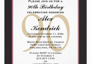 90th Birthday Invitation Wording 90th Birthday Invitation Invitations Pinterest