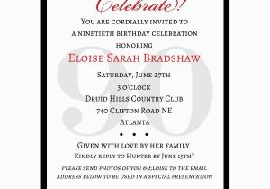 90th Birthday Invitation Wording 90th Birthday Verses or Quotes Quotesgram