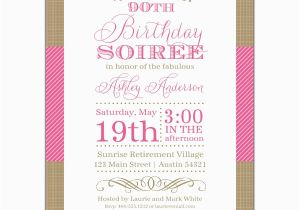 90th Birthday Invitation Wording Nashville Pink 90th Birthday Invitations Paperstyle