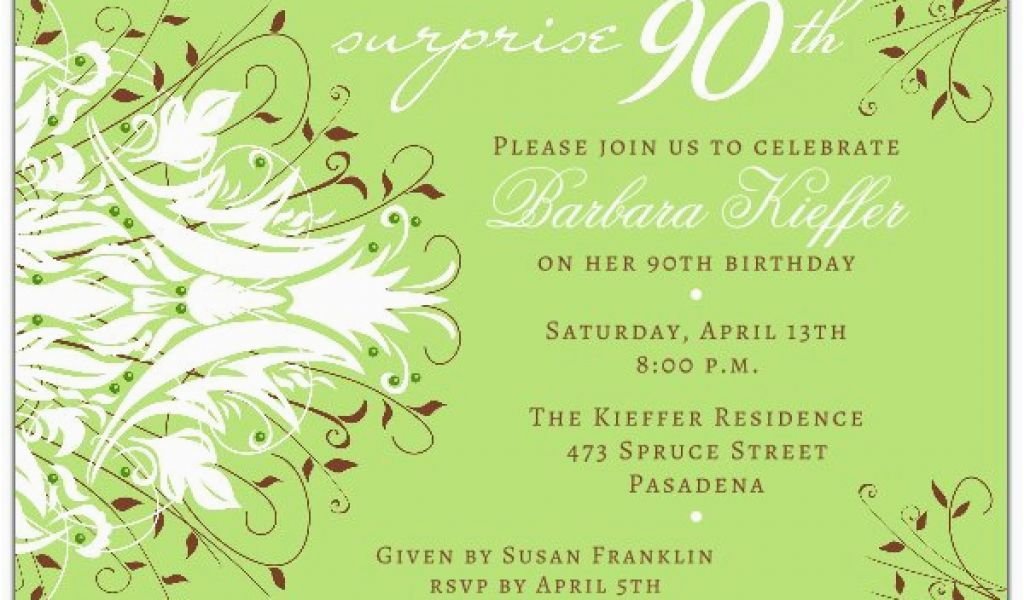 Download By SizeHandphone Tablet Desktop Original Size Back To 90th Birthday Invitation Wording Samples