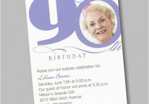 90th Birthday Invitation Wording Samples Printable Invitations 360 Degree